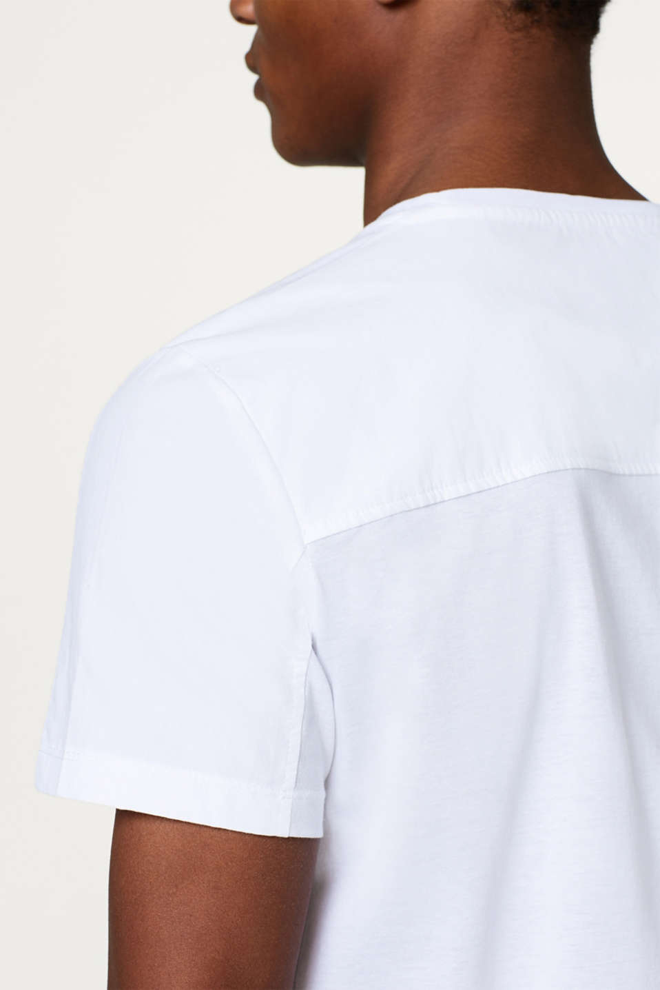 Straight T-shirt in 100% cotton