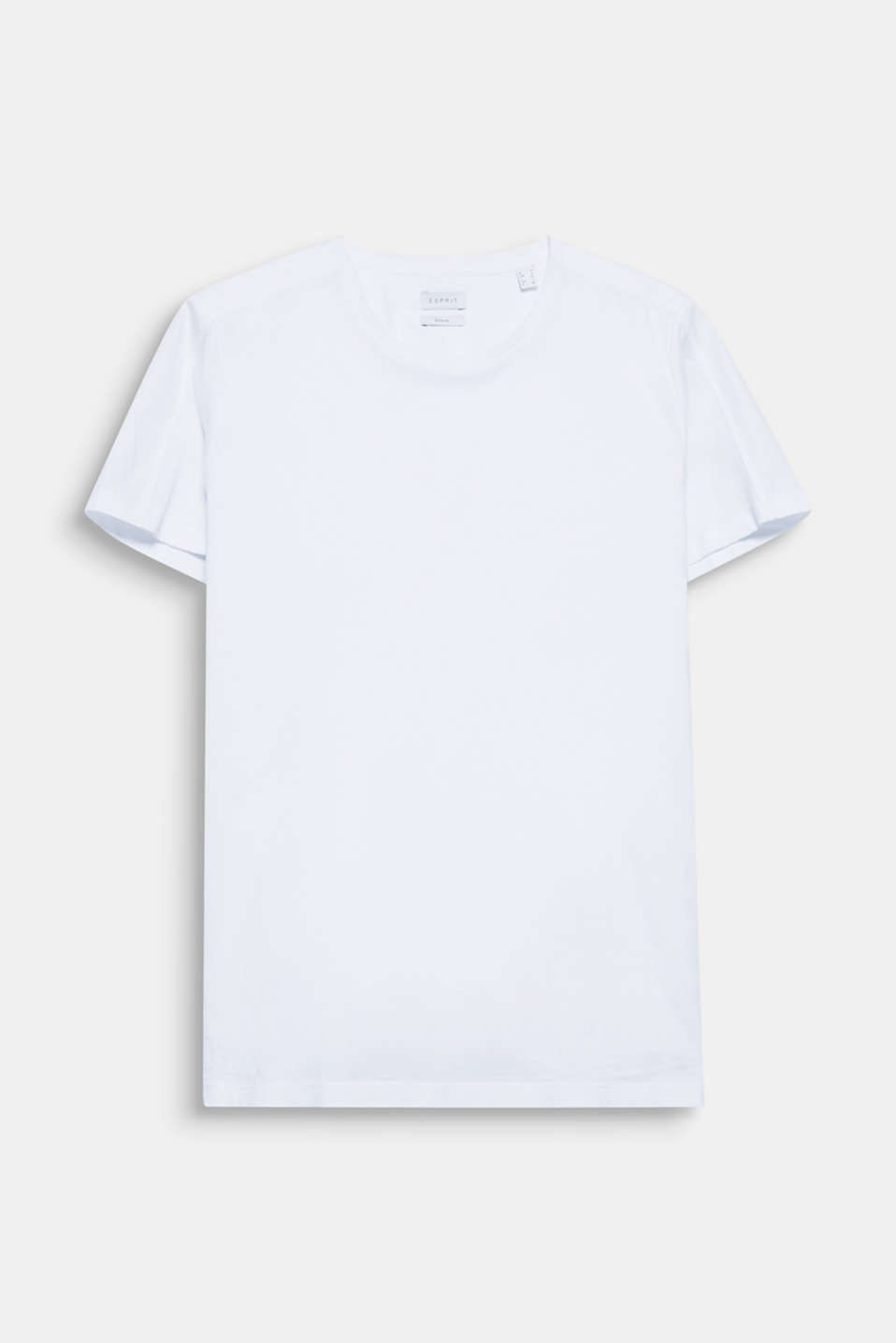 The exciting combination of textured jersey and the smooth fabric used for the shoulder area makes this T-shirt a high-quality basic.