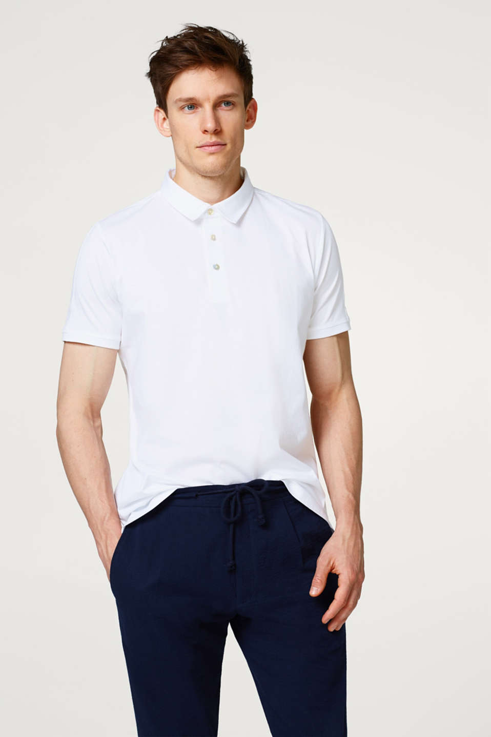 Esprit - Pure cotton jersey polo shirt