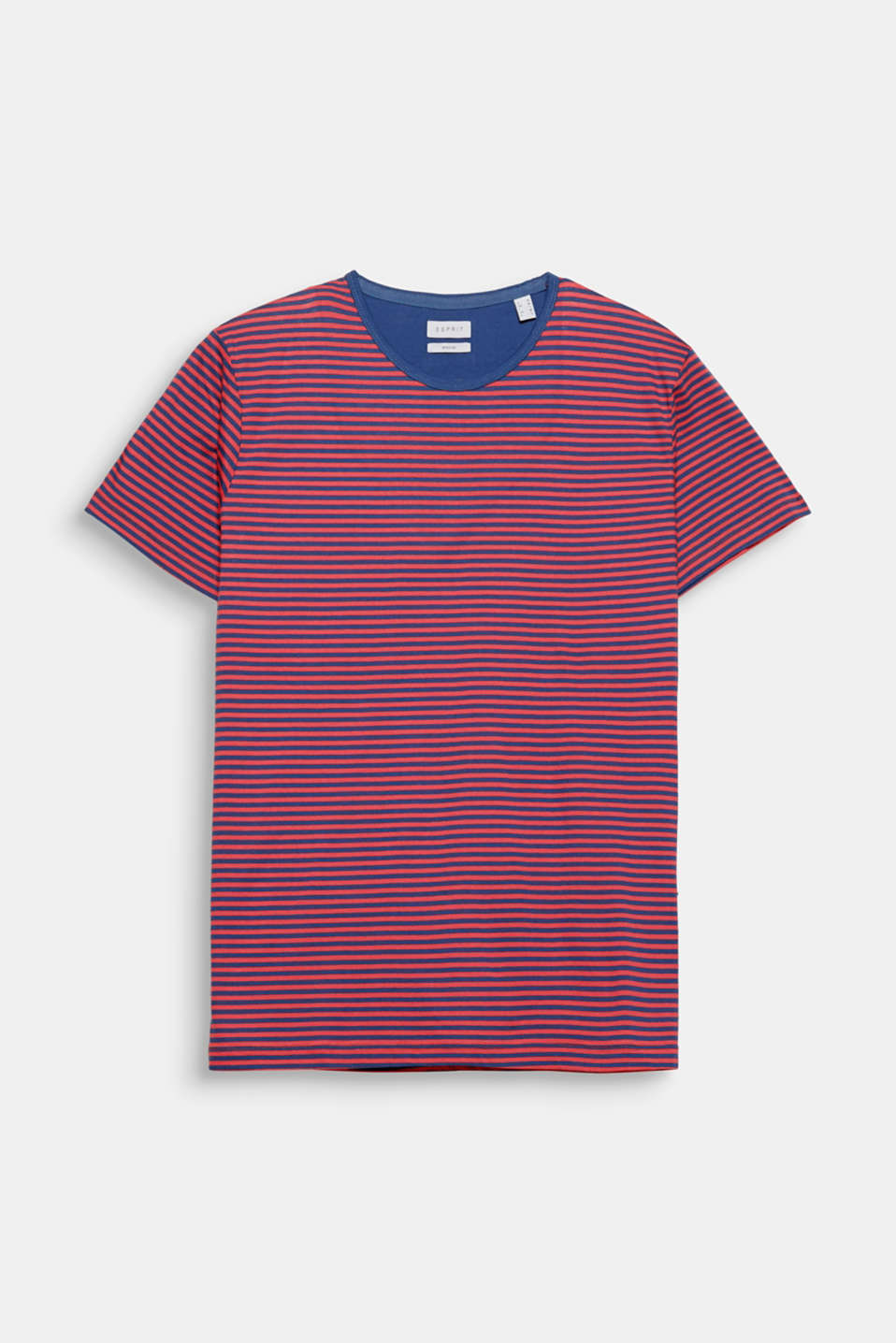 Fine stripes give this T-shirt a sporty nautical look.