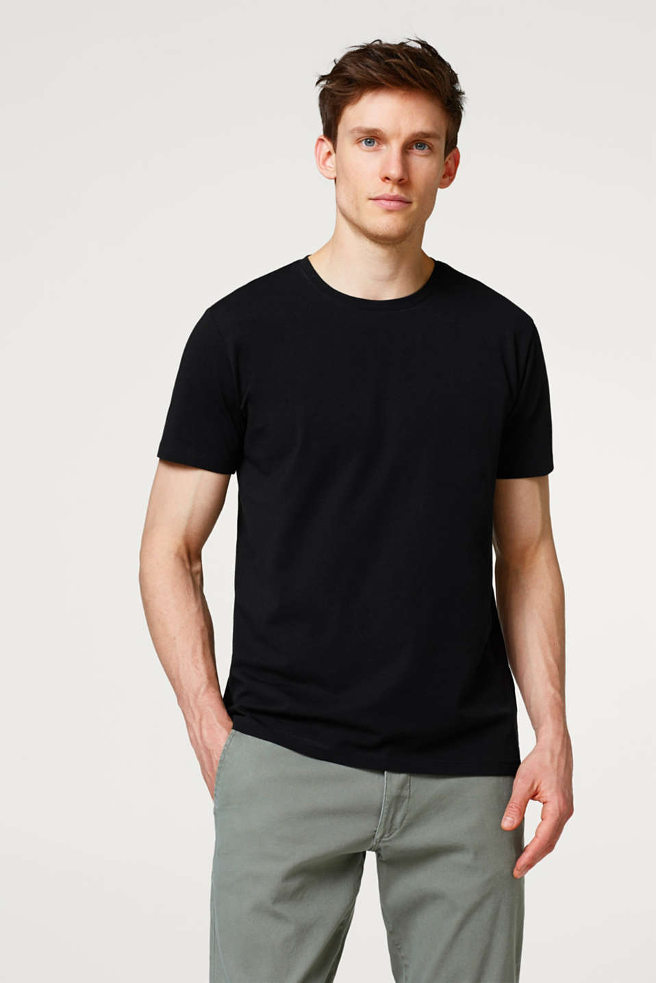 Esprit - Basic stretch jersey T-shirt