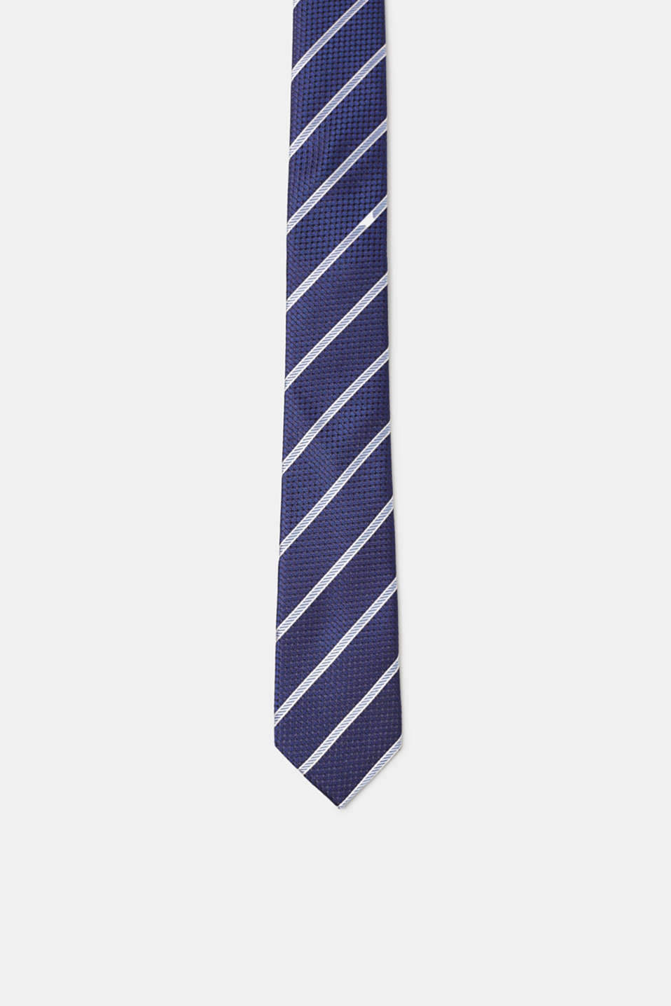 Esprit - Silk tie with a striped pattern