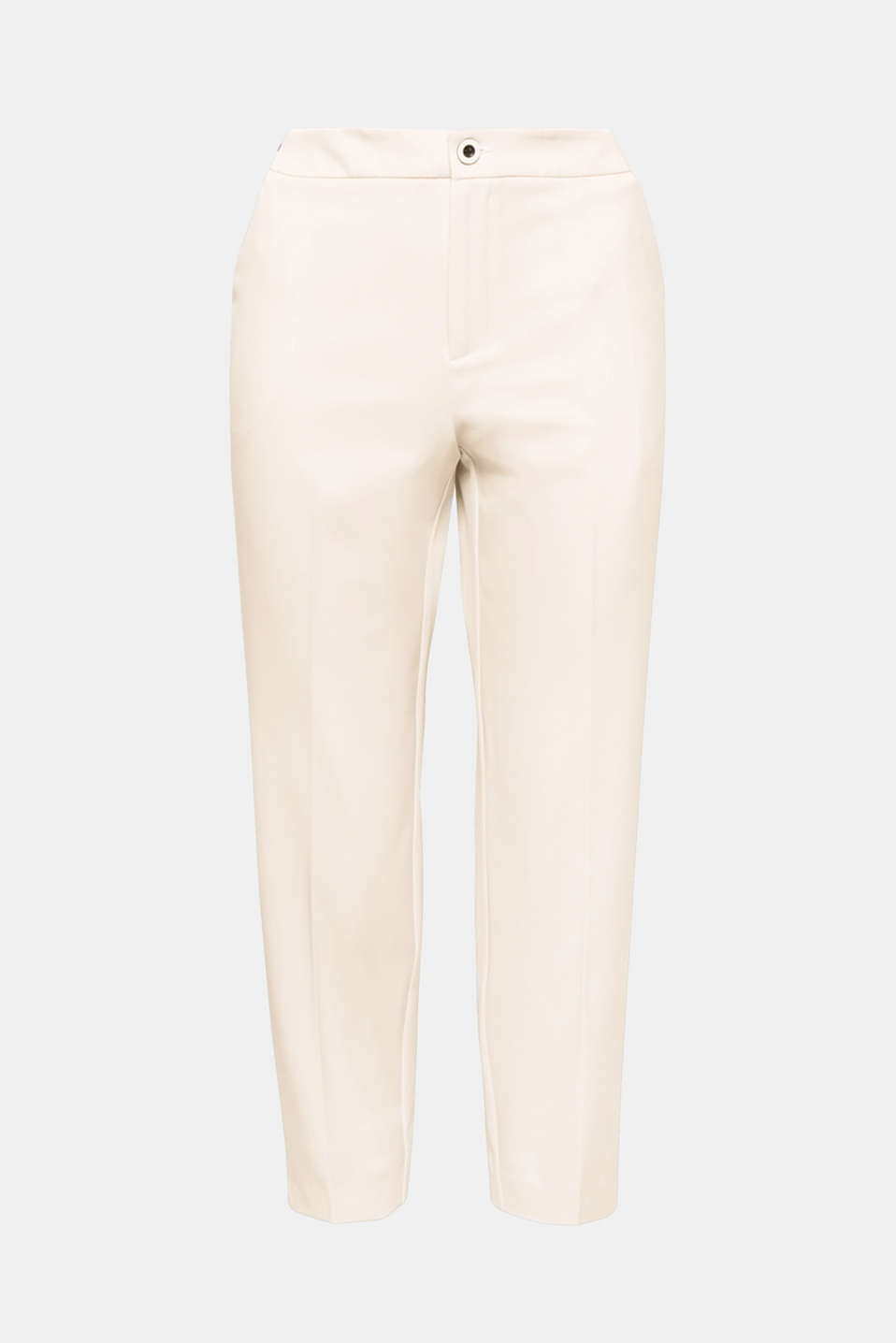 Favourite trousers: an elasticated striped waistband and piping at the side give these 7/8-length trousers their new fashion look.
