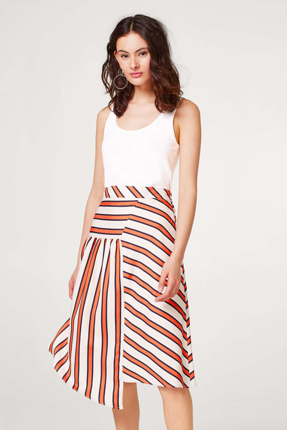 Esprit - Flowing skirt in a new striped look