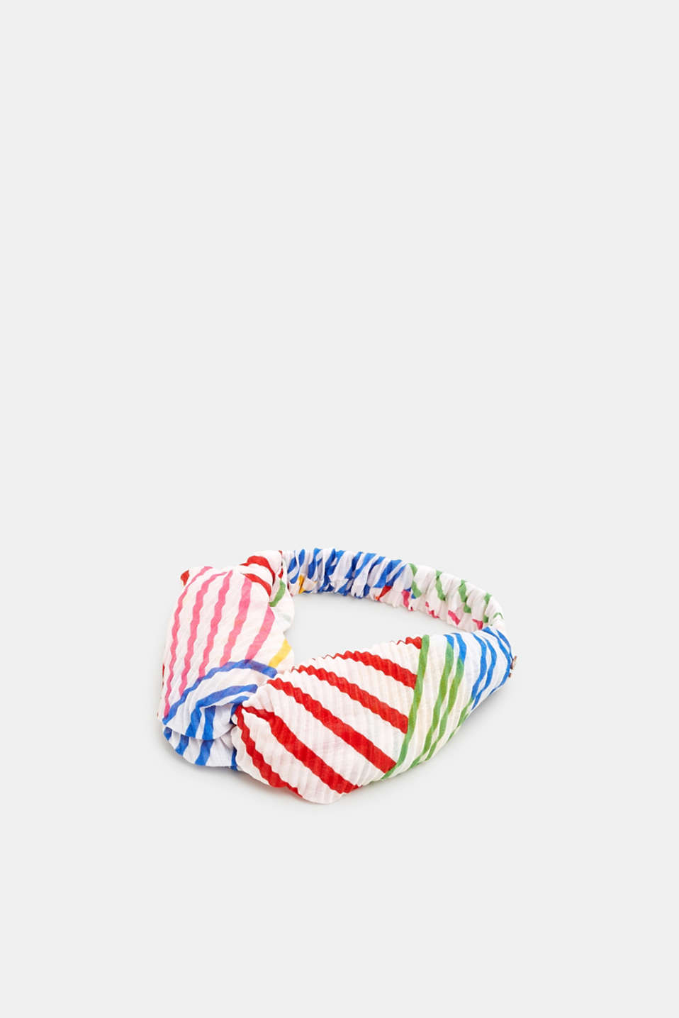 edc - Pleated hairband with colourful stripes