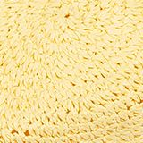 Crocheted trilby hat, LIGHT YELLOW, swatch