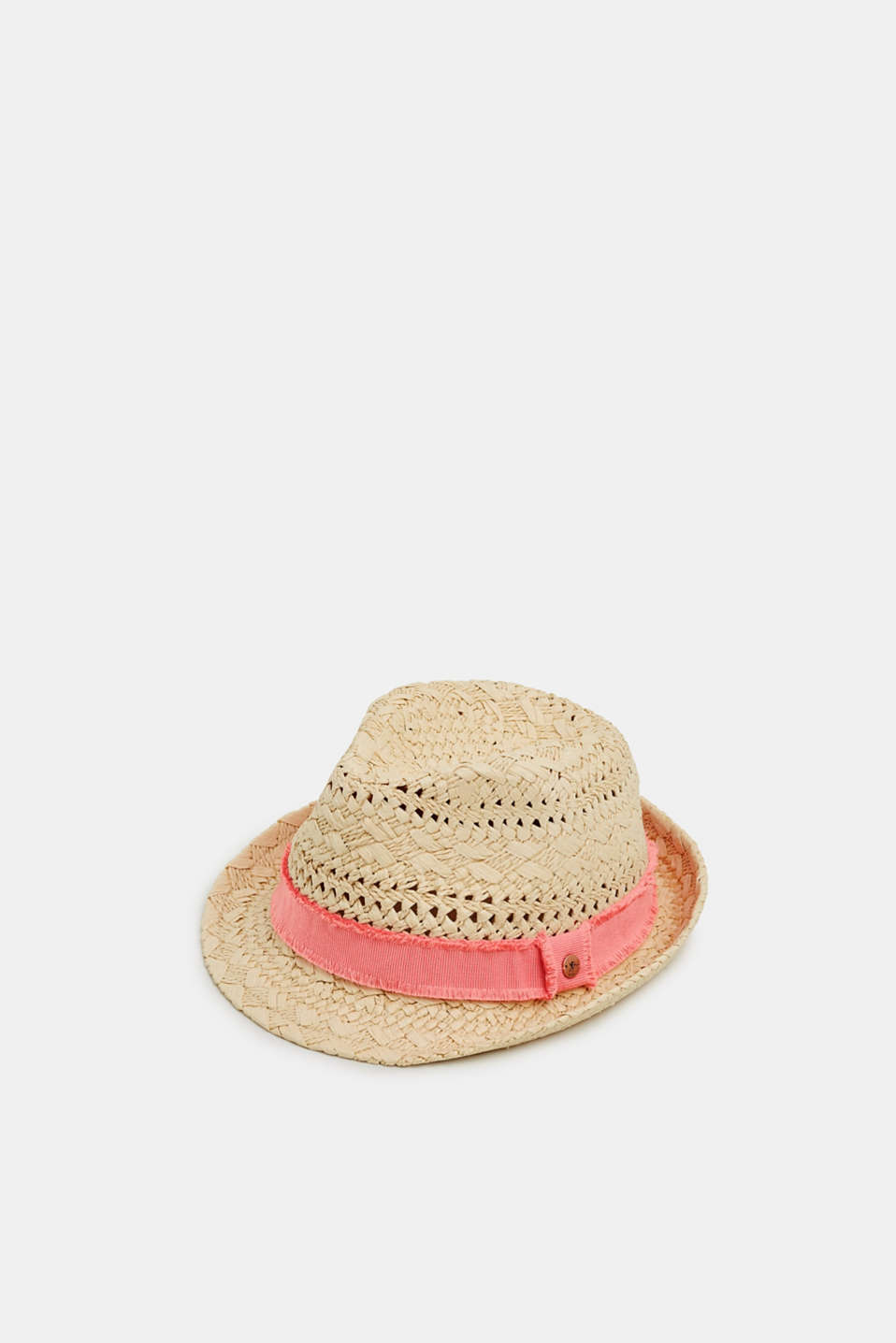 edc - Braided trilby hat made of straw