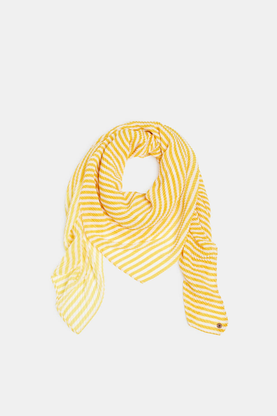 edc - Pleated scarf with thin stripes