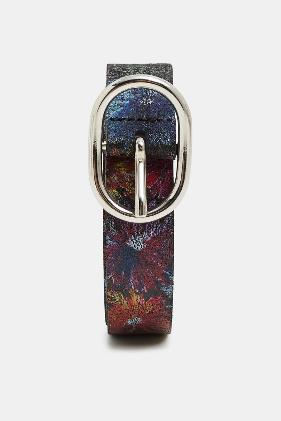 edc - Leather belt with a floral print