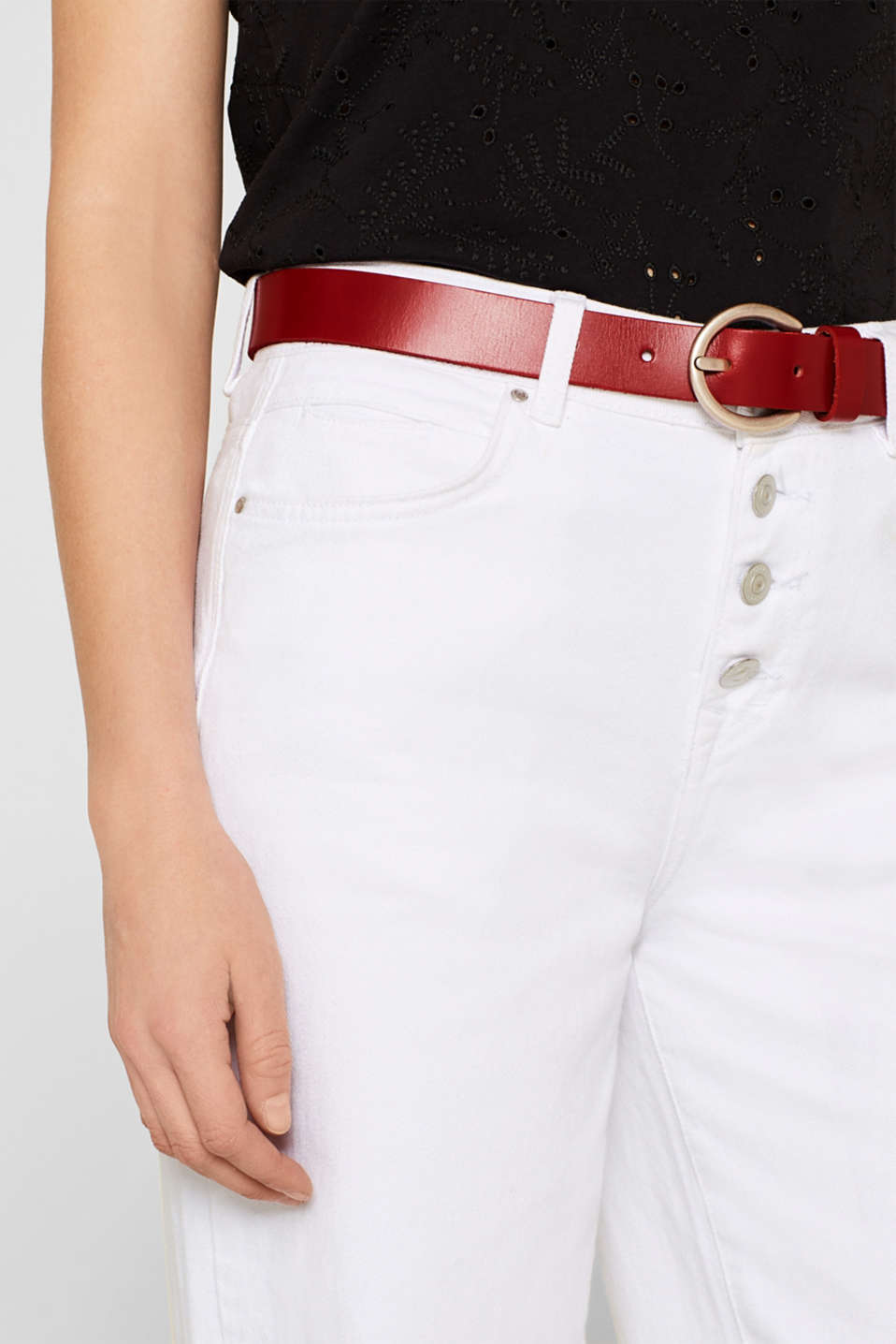 Belts leather, RED, detail image number 2