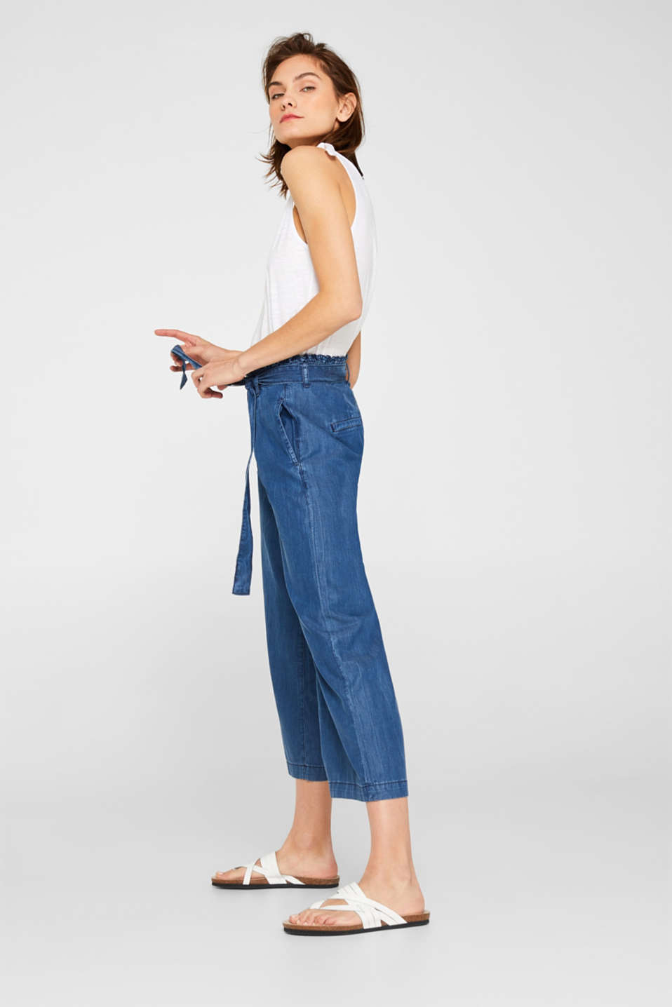 edc - Denim culottes containing TENCEL™