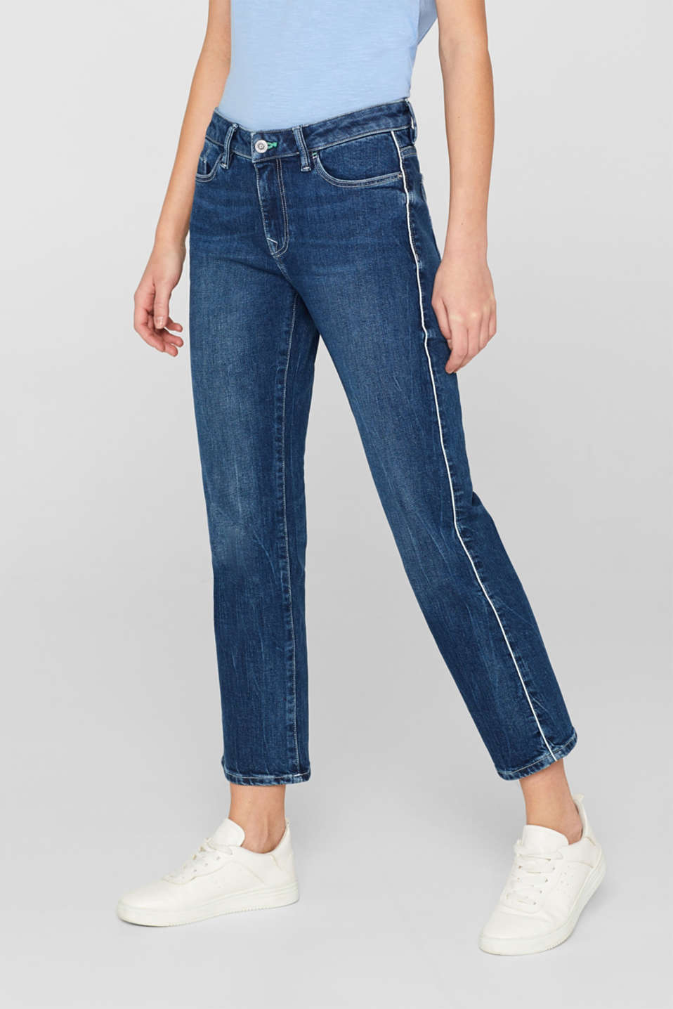 edc - Ankle-length stretch jeans with organic cotton