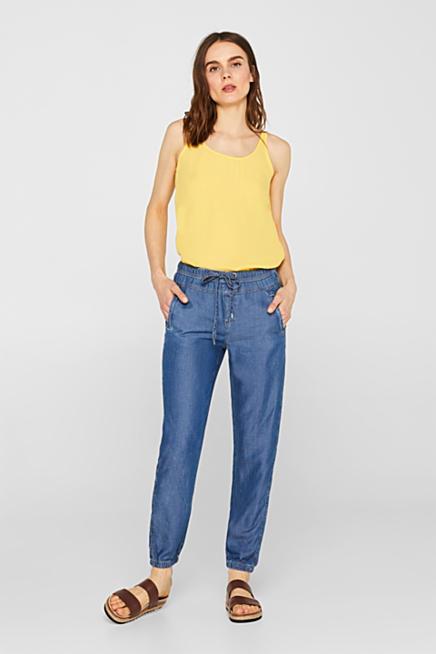 0aa8c86f259d Pantaloni stile jogger in TENCEL™ effetto denim
