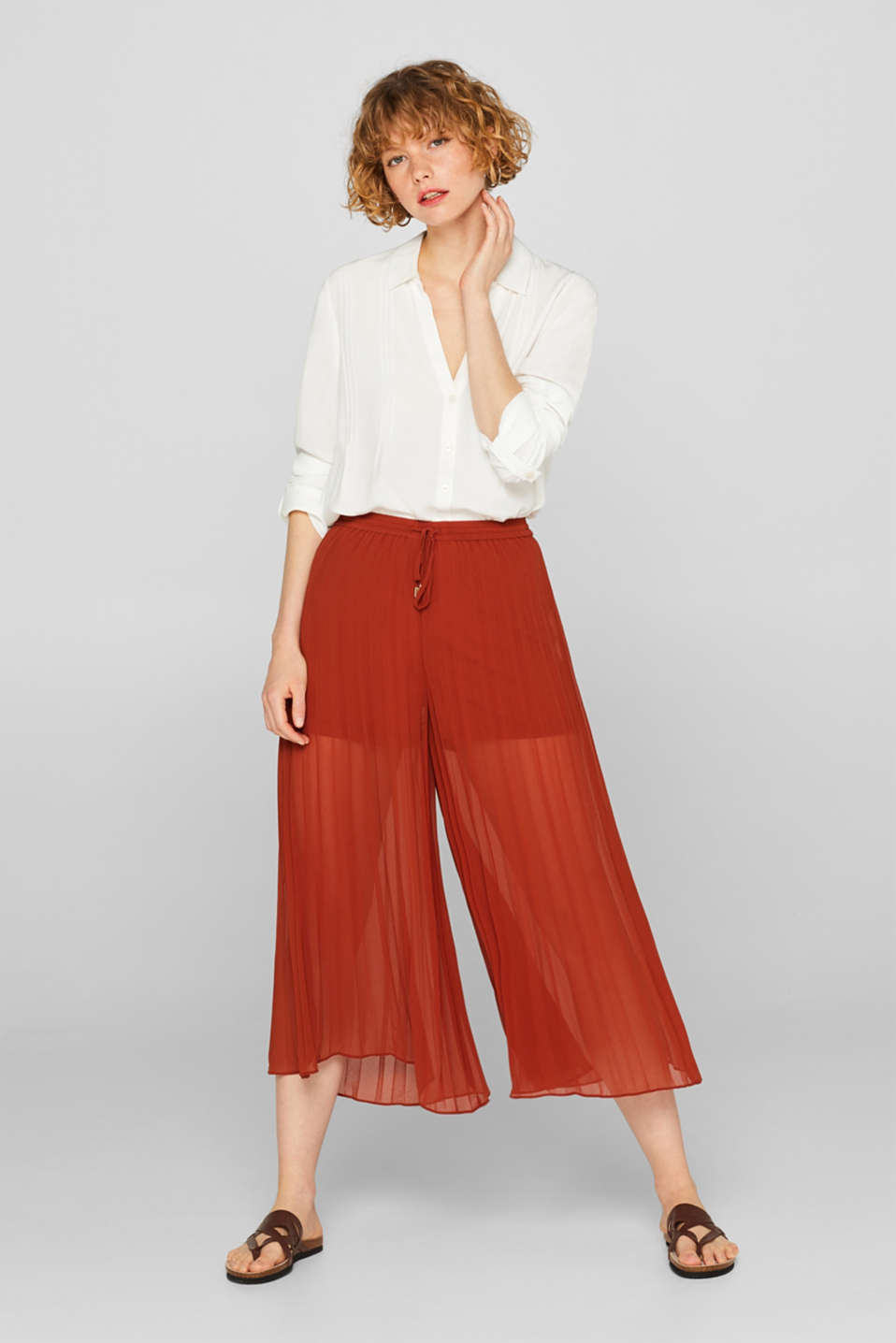60ae297e5704a2 edc : Pantaloni culotte in crêpe nel nostro shop on-line