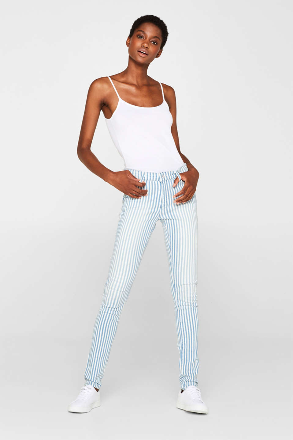 edc - Striped stretch jeans