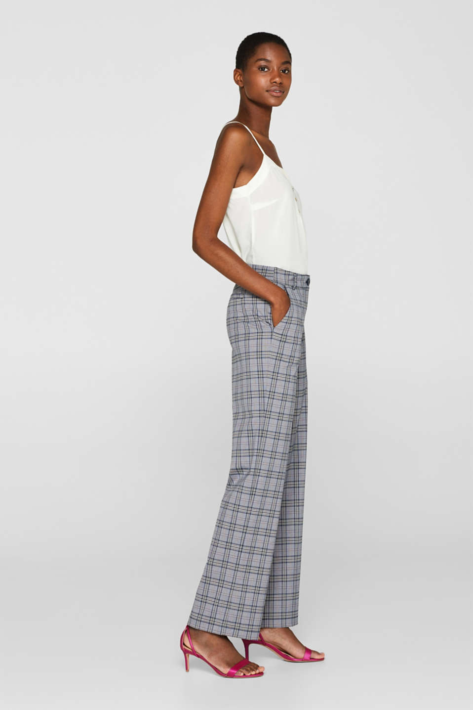 Straight leg stretch trousers
