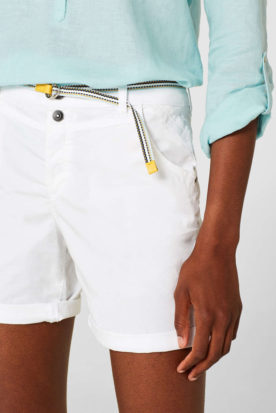 Shorts woven, WHITE, detail image number 2