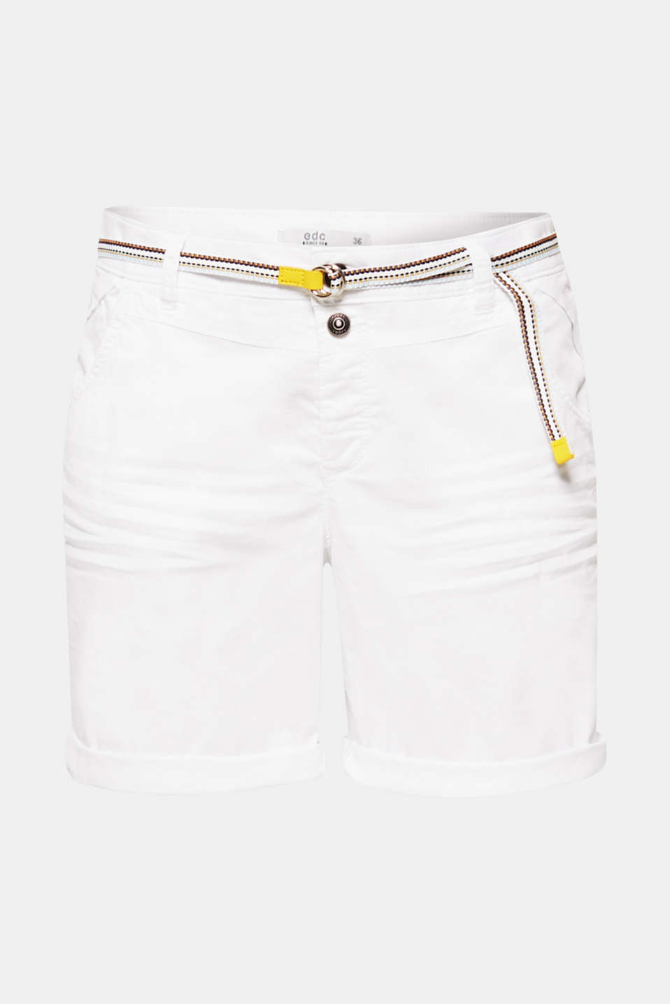 Shorts woven, WHITE, detail image number 7