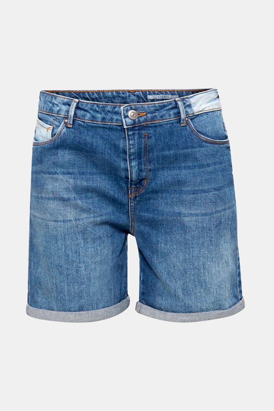 Shorts denim, BLUE MEDIUM WASH, detail image number 6