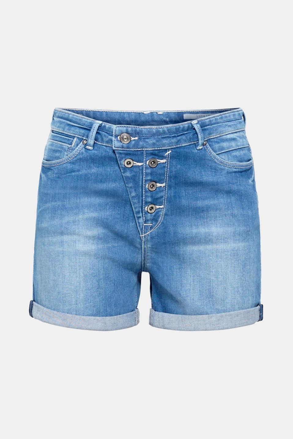Shorts denim, BLUE MEDIUM WASH, detail image number 7