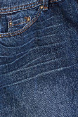 Basic denim skirt with whiskering