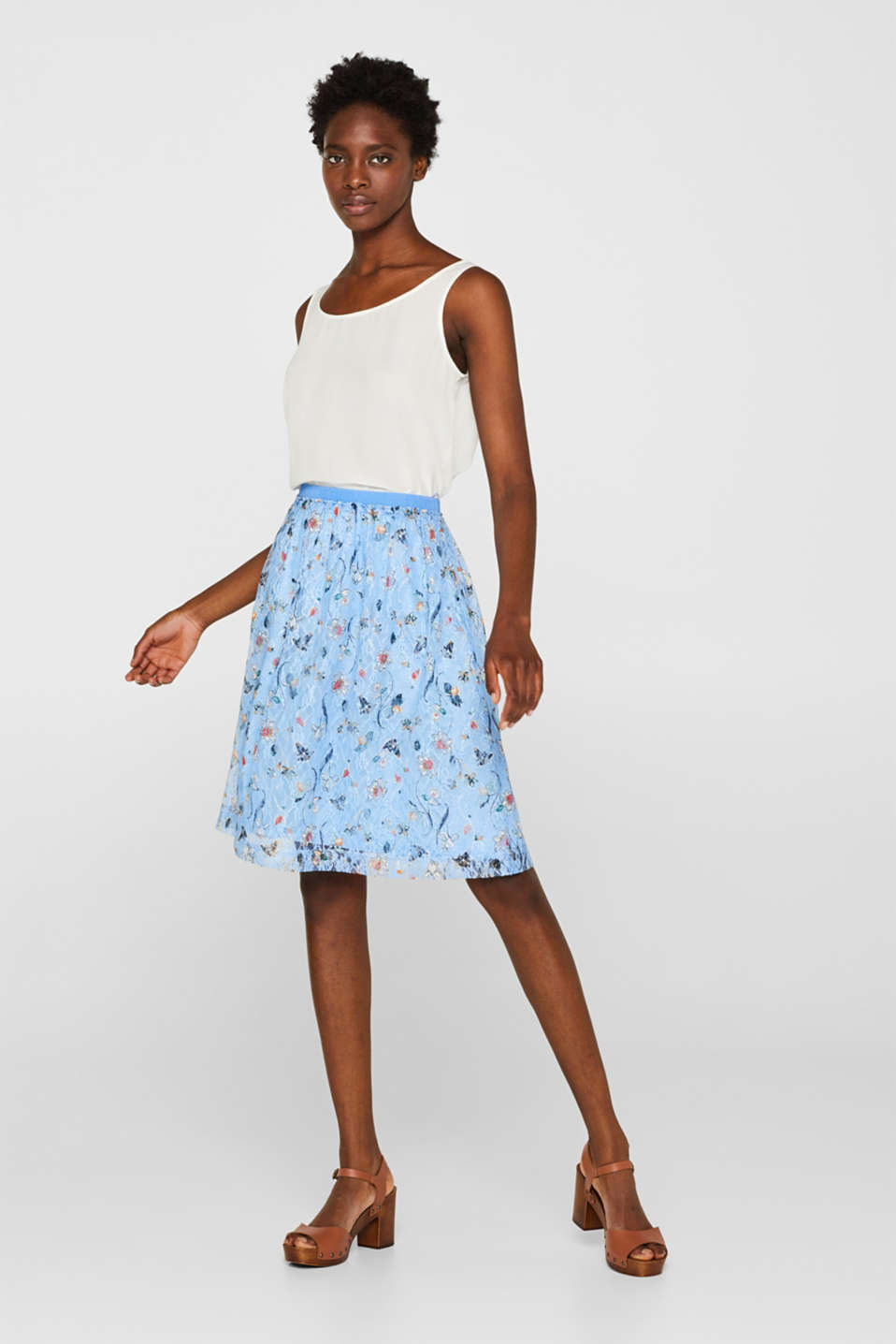 Skirts knitted, LIGHT BLUE, detail image number 1
