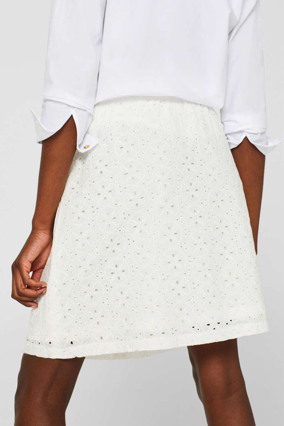 Skirts light woven, OFF WHITE, detail image number 3