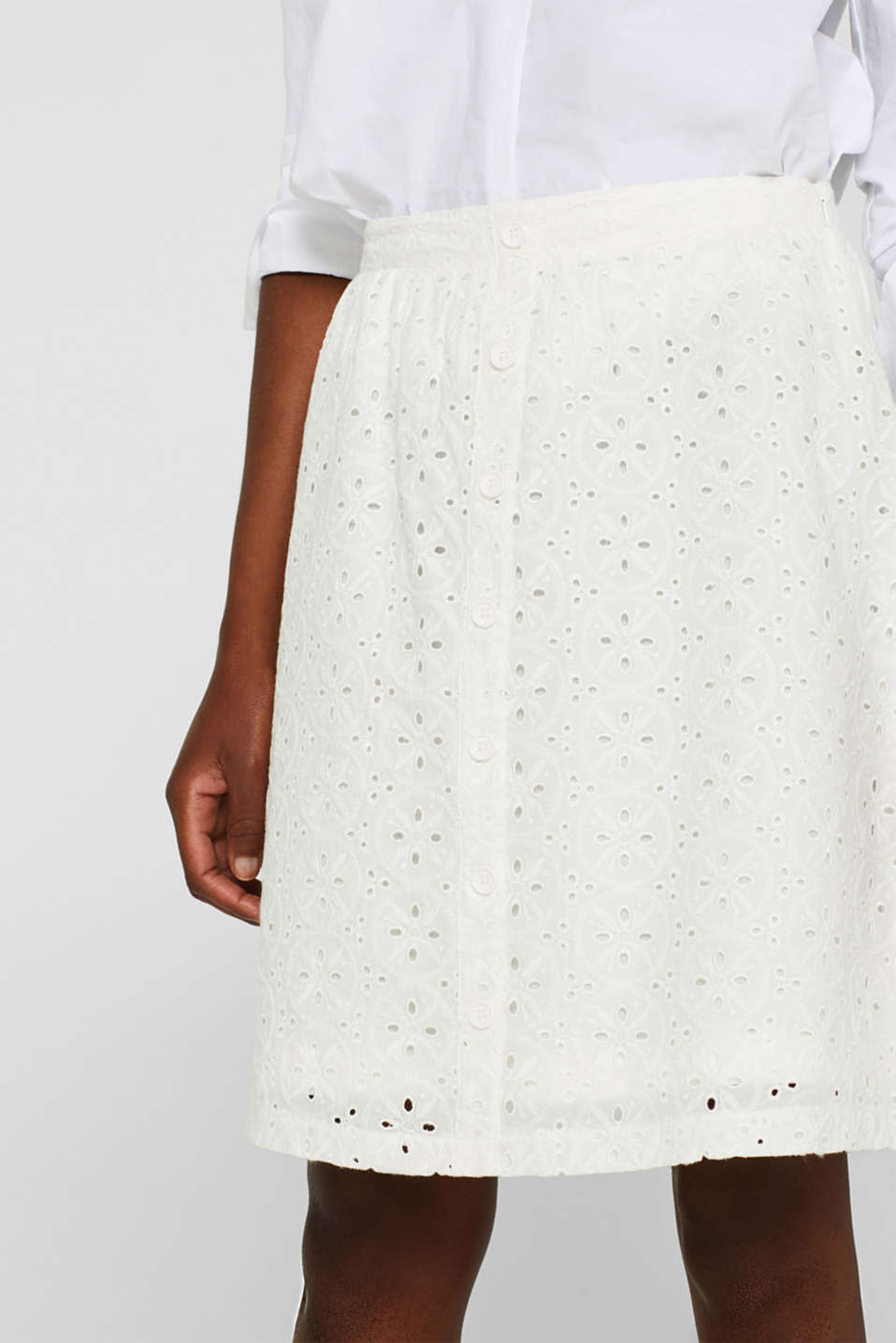 Skirts light woven, OFF WHITE, detail image number 2