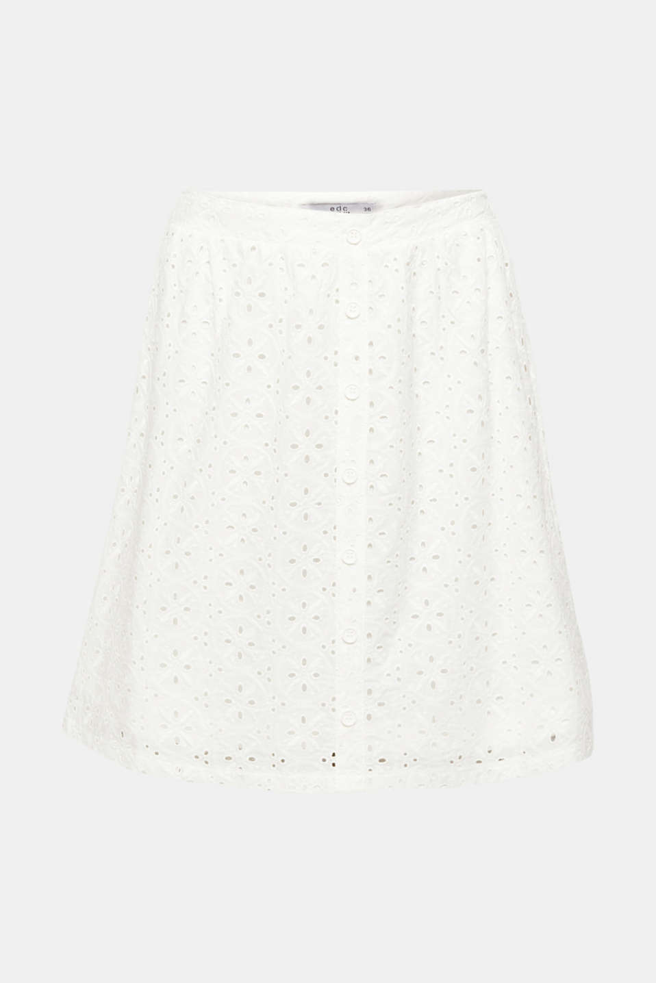 Skirts light woven, OFF WHITE, detail image number 7