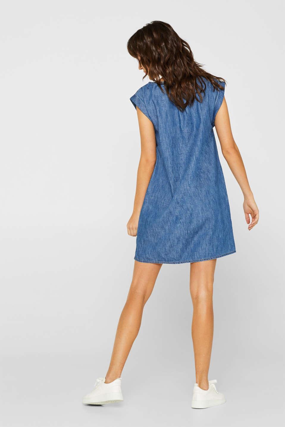 Denim dress in 100% cotton, BLUE DARK WASH, detail image number 2