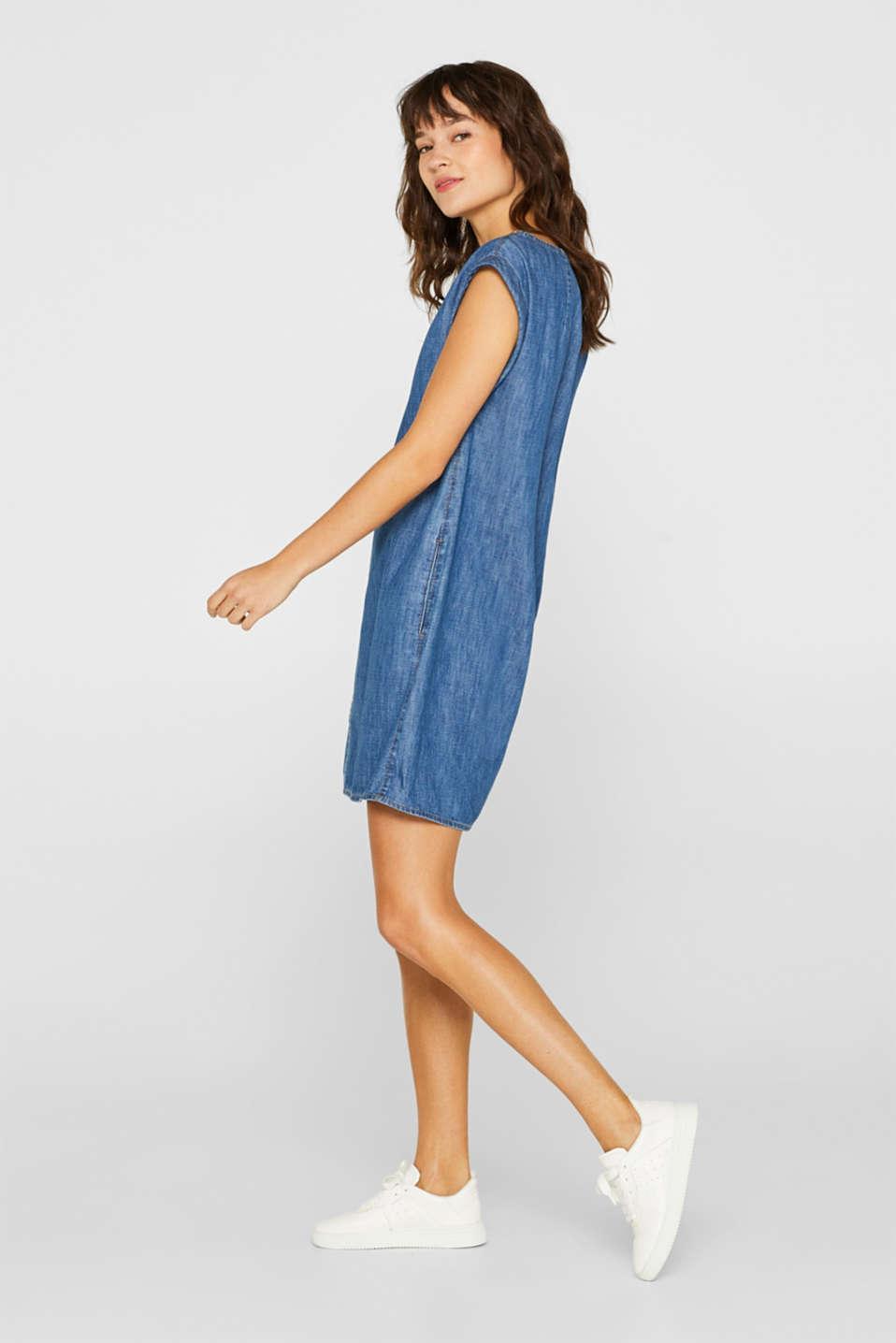 Denim dress in 100% cotton, BLUE DARK WASH, detail image number 1