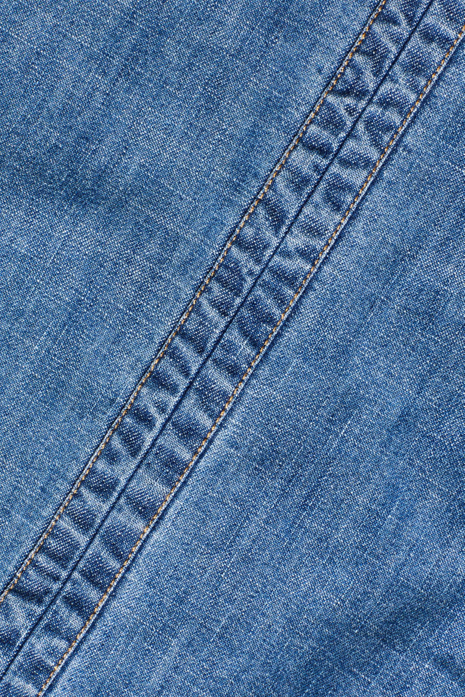 Denim dress in 100% cotton, BLUE DARK WASH, detail image number 4