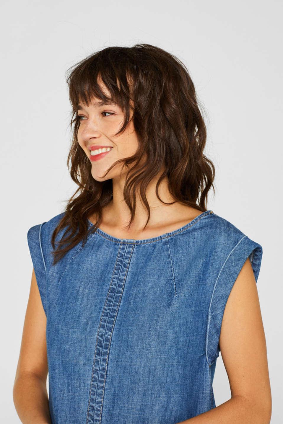 Denim dress in 100% cotton, BLUE DARK WASH, detail image number 6