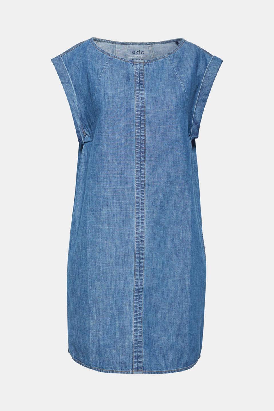 Denim dress in 100% cotton, BLUE DARK WASH, detail image number 7