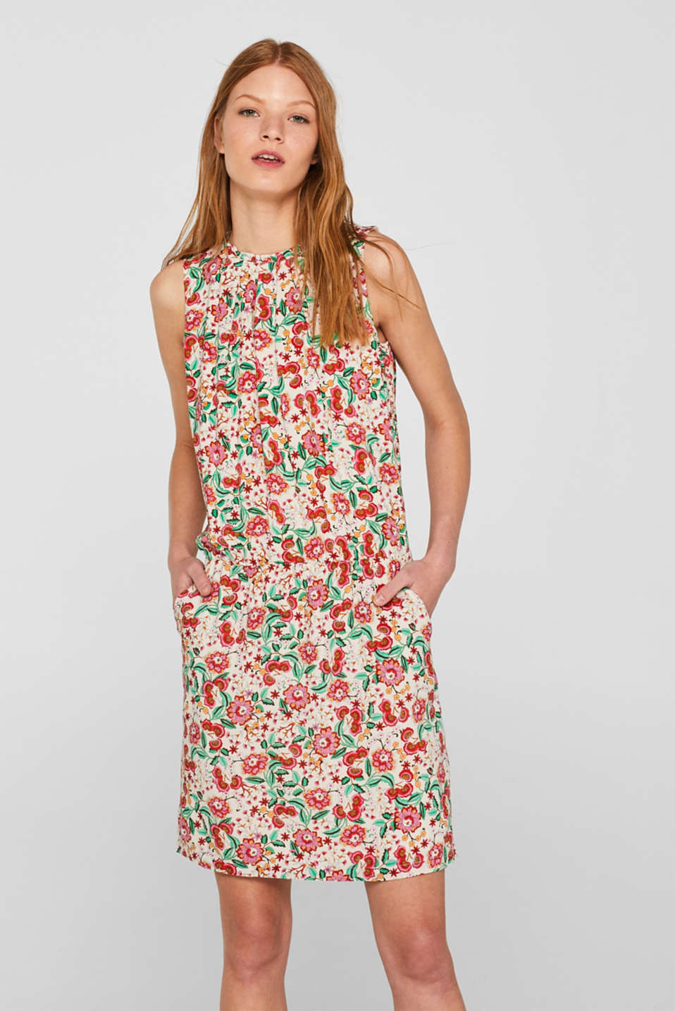 Dresses light woven, OFF WHITE, detail image number 0