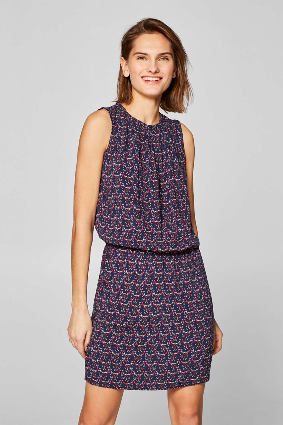edc - Shirt dress with a colourful print