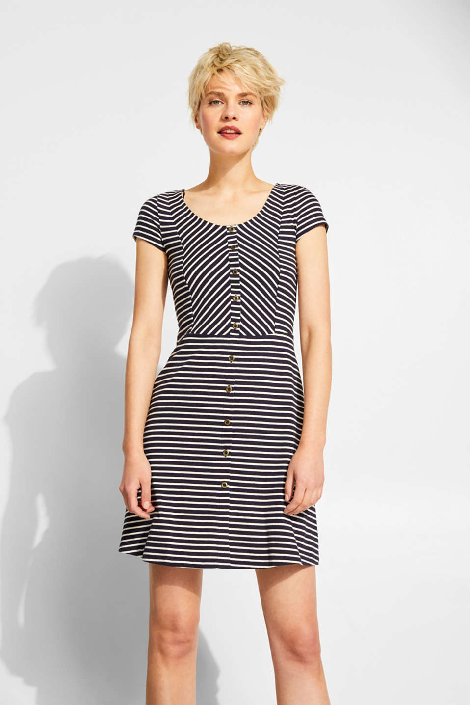 edc - Striped jersey dress, 100% cotton