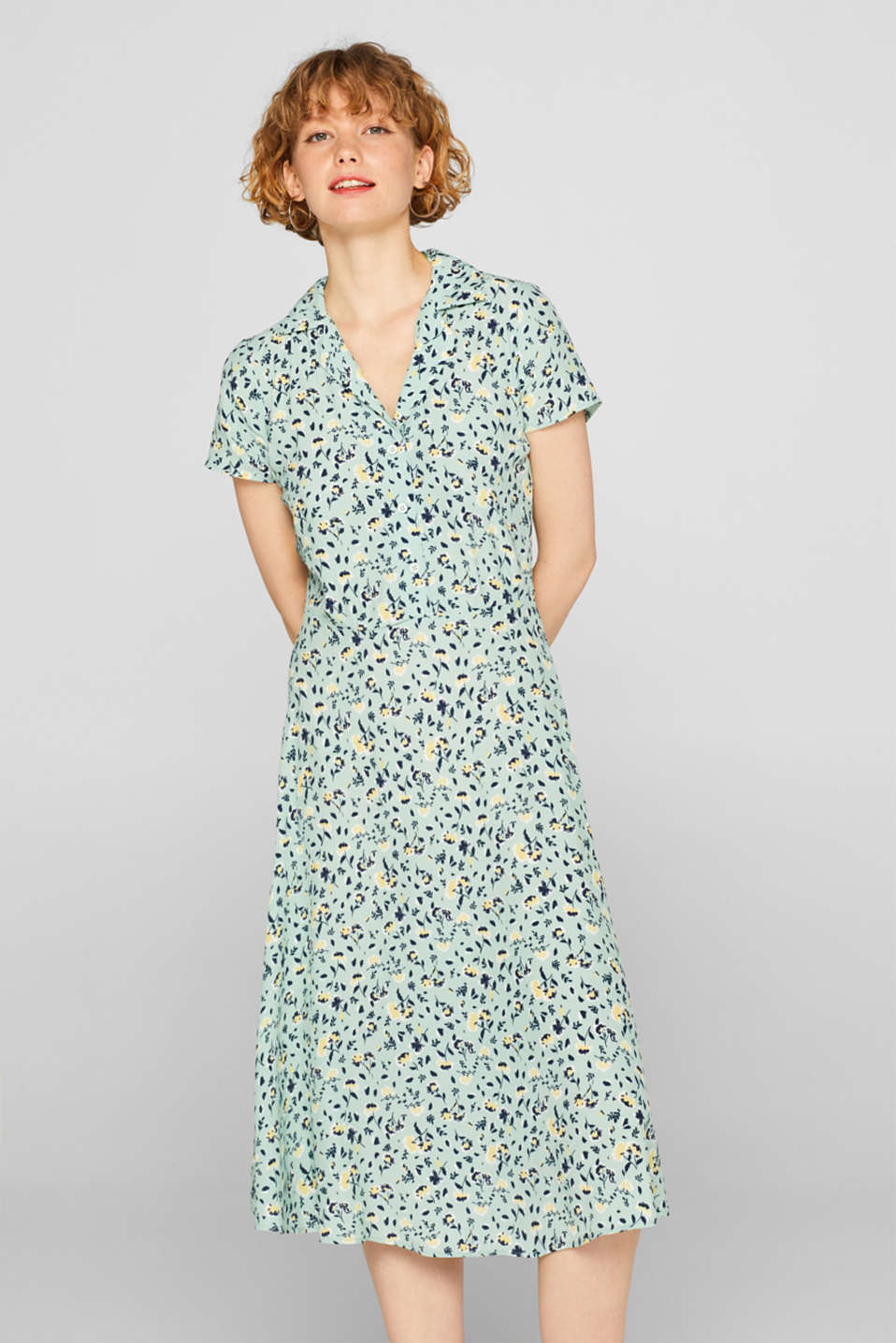 Dresses light woven, LIGHT AQUA GREEN, detail image number 0