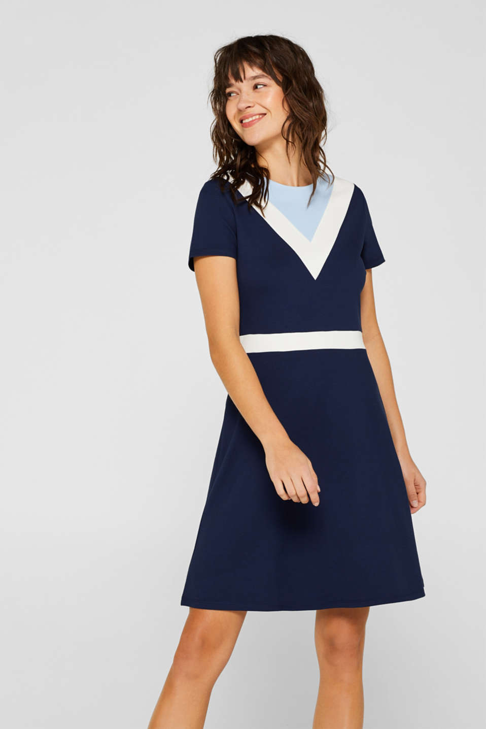 edc - Stretch jersey dress in a sporty, retro look