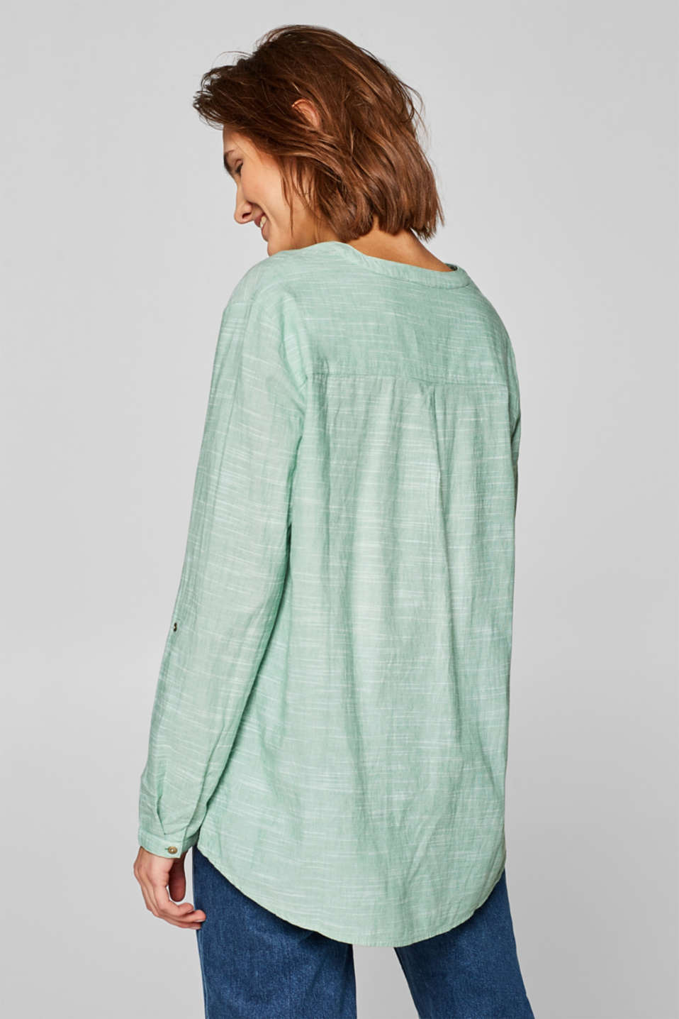 Blouses woven, DUSTY GREEN, detail image number 3