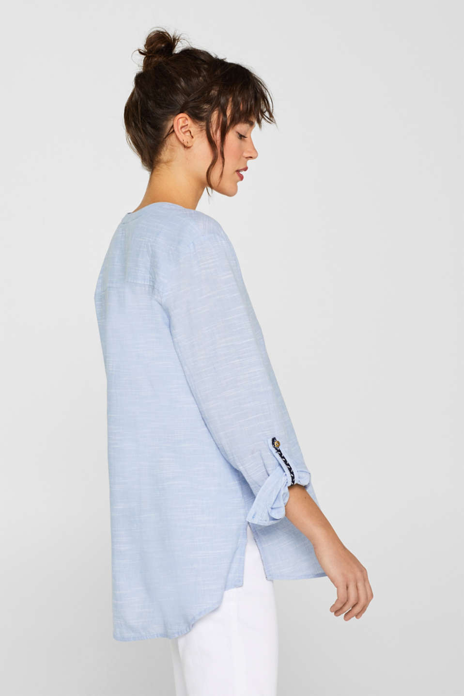 Blouses woven, LIGHT BLUE, detail image number 5
