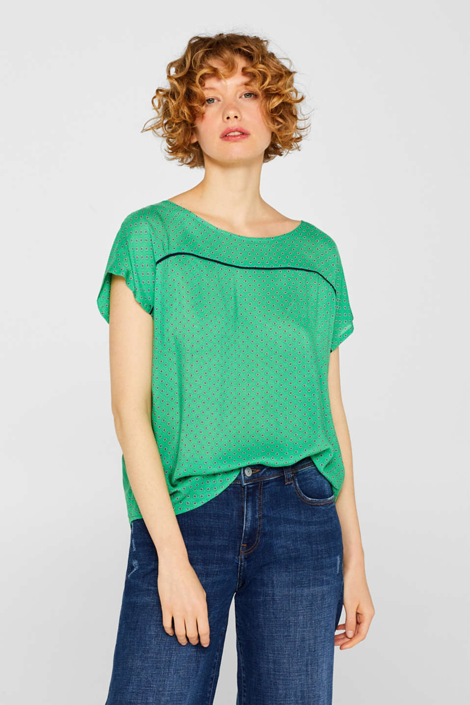 edc - Blouse top with a minimalist print