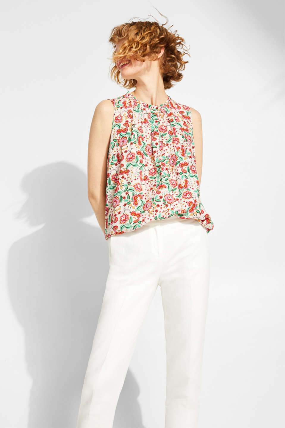 edc - Blouse top with a floral print