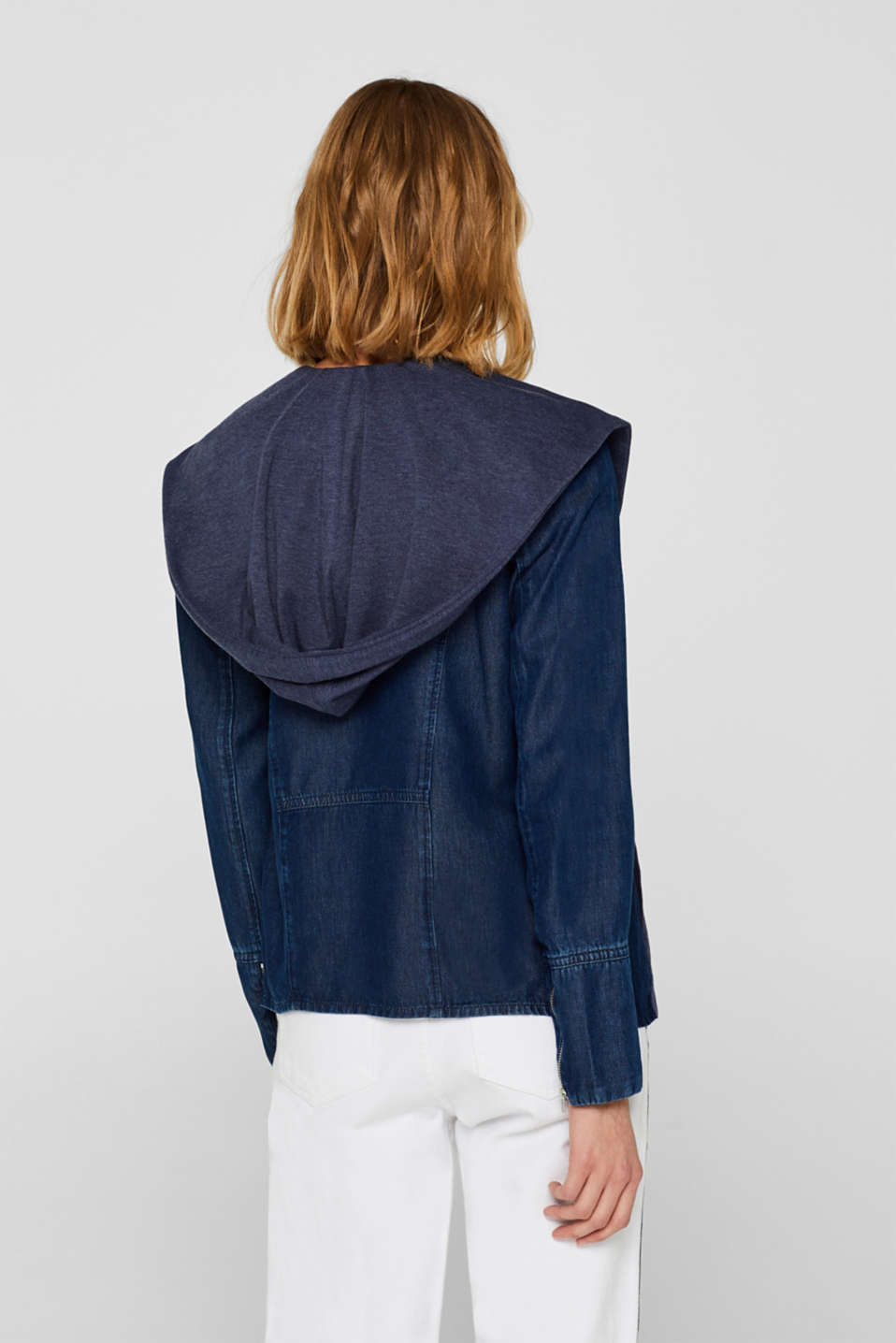 Jackets indoor woven, BLUE MEDIUM WASH, detail image number 3
