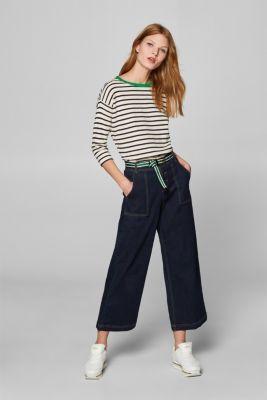 Lightweight sweatshirt with contrasting trim, NAVY, detail