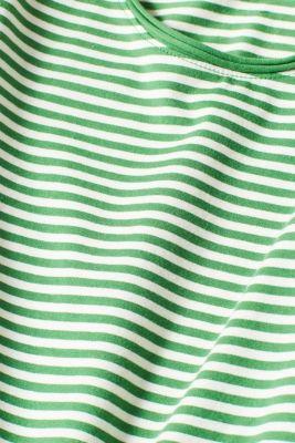 Striped stretch T-shirt containing organic cotton