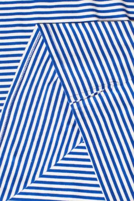 Striped stretch T-shirt containing organic cotton, BRIGHT BLUE, detail