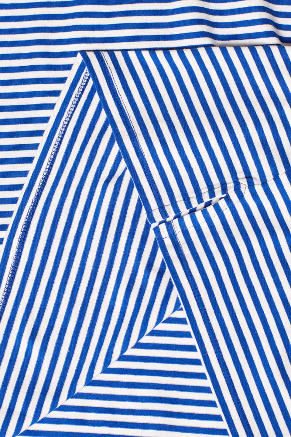 Striped stretch T-shirt containing organic cotton, BRIGHT BLUE, detail image number 4