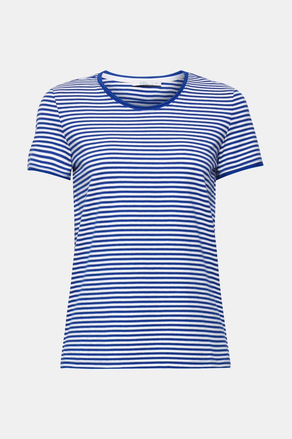 Striped stretch T-shirt containing organic cotton, BRIGHT BLUE, detail image number 6