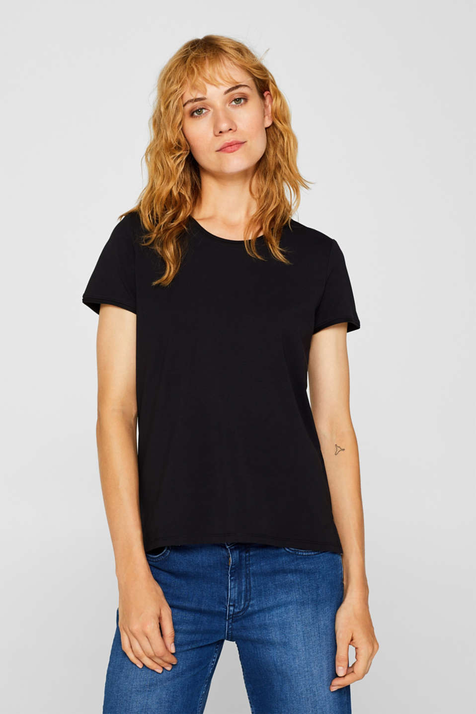 edc - Stretch-T-Shirt mit Organic Cotton